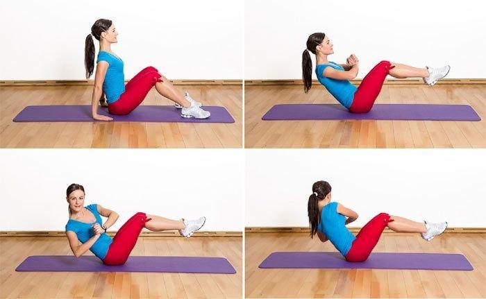 Упражнения для боков