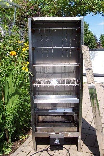 Коптильня из холодильника и электроплитки своими руками